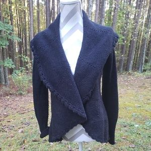 Lucky Brand black cardigan sweater size Small